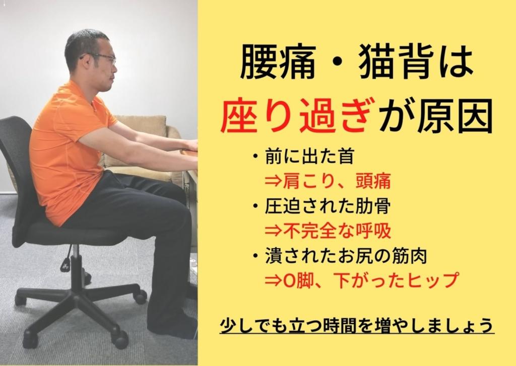 """<span class=""""title"""">O脚と下がったお尻は椅子で作られる??知って欲しい「座り過ぎの害」</span>"""